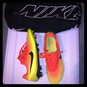 Magista soccer cleats and cleats bag